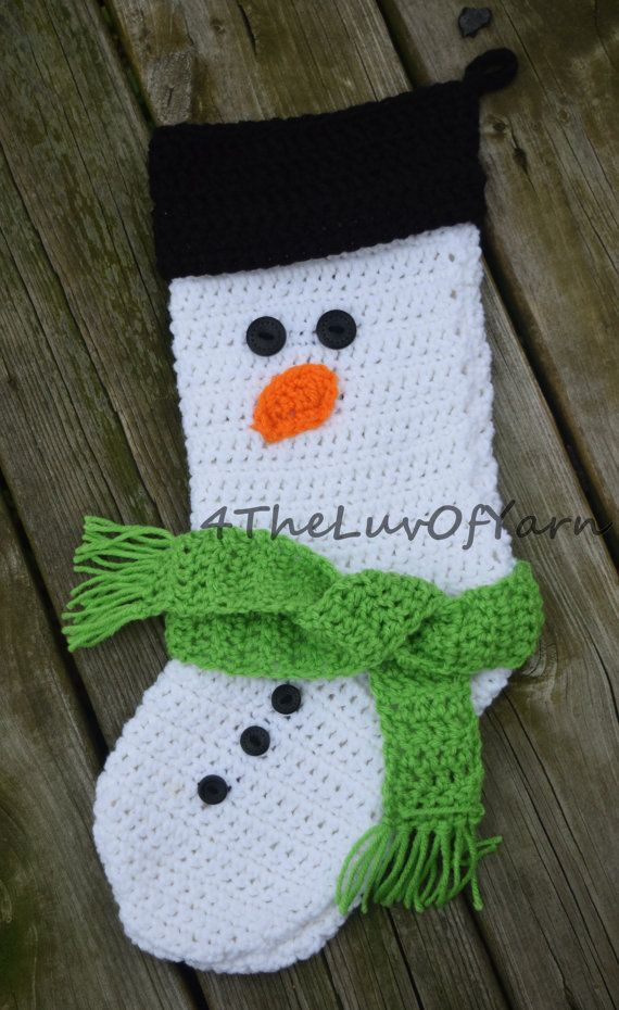 Christmas Stocking Crochet Stocking Christmas By 4theluvofyarn