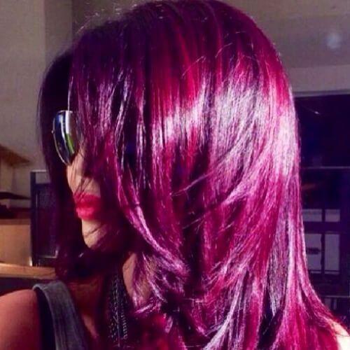 violett haarfarbe