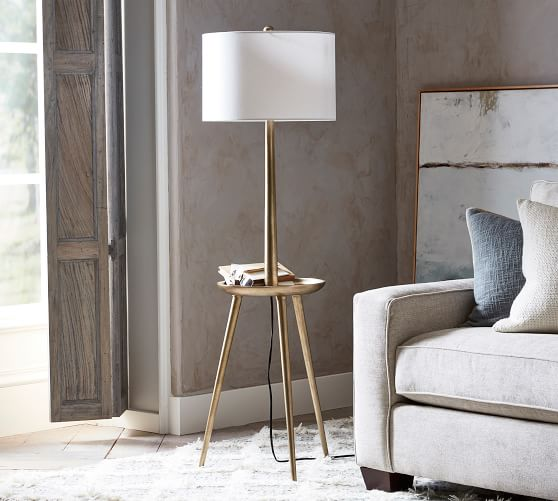 Floor Lamps Standing Lamps Pottery Barn With Images Floor