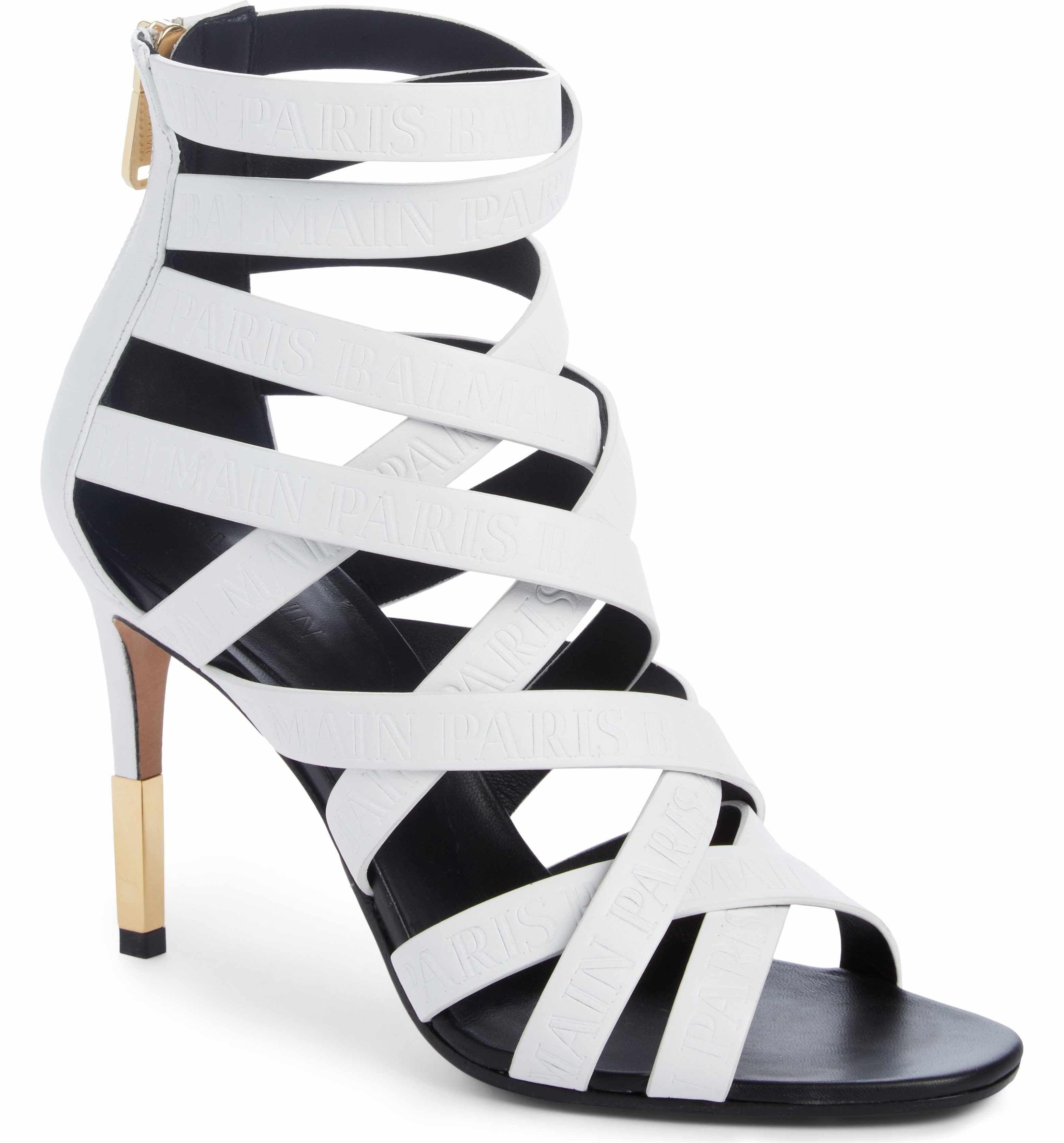 Bridal Shoes At Nordstrom: Balmain Caged Sandal (Women