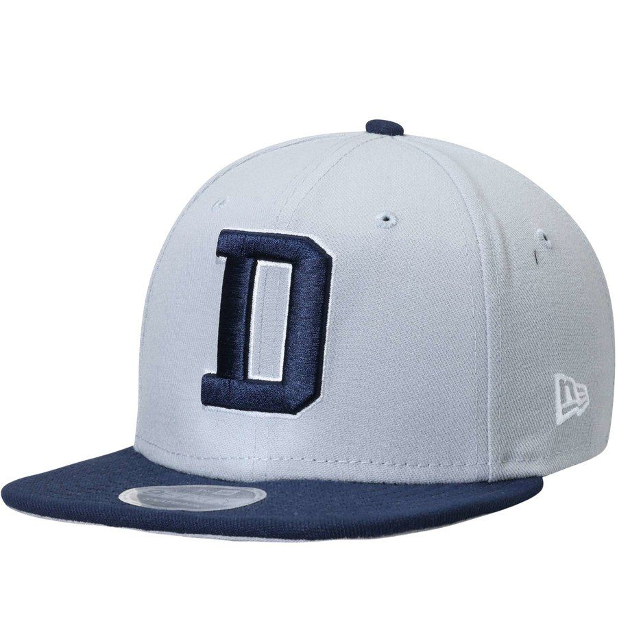 b7894d69018 Men s Dallas Cowboys New Era Gray Navy 2T Southside 9FIFTY Adjustable  Snapback Hat