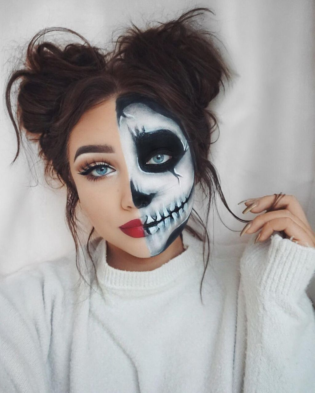 71 inspiring halloween makeup ideas to makes you look creepy but cute halloween makeup makeup. Black Bedroom Furniture Sets. Home Design Ideas