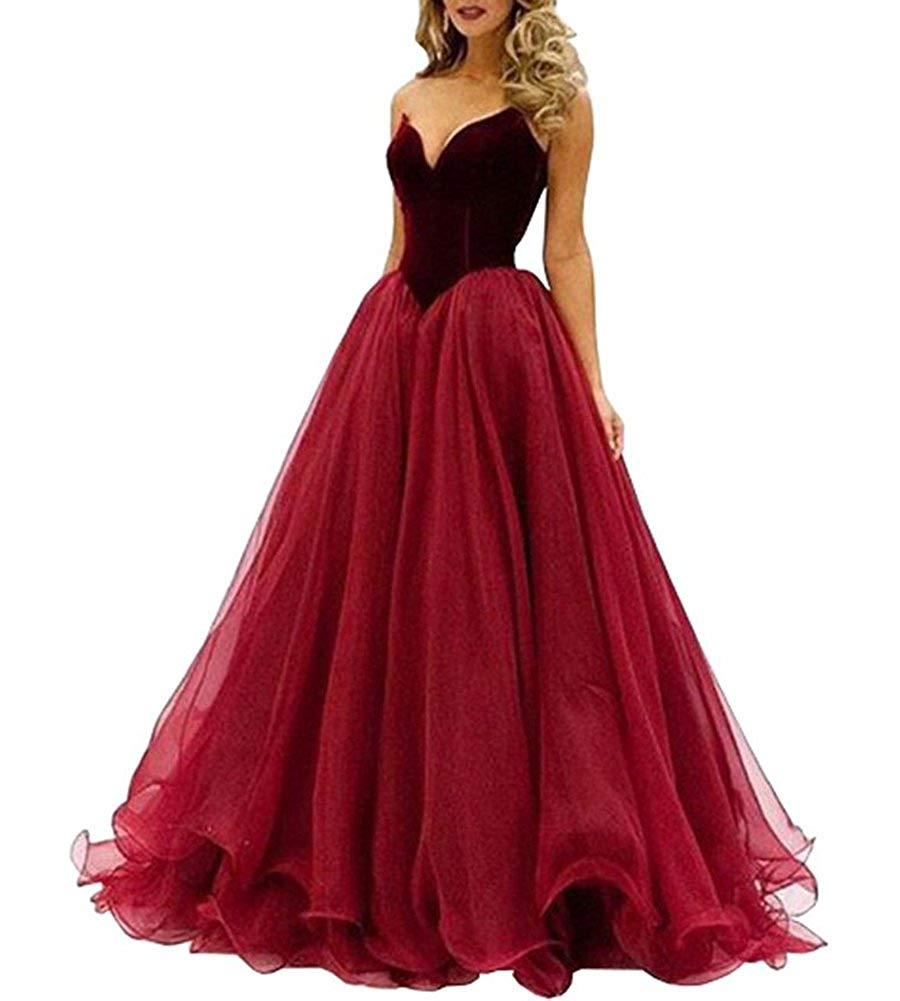 Beauty Bridal Damen Schatz Lace up bodenlangen Kleid Prom