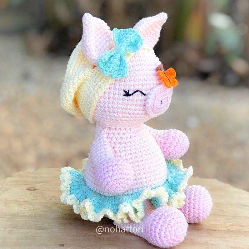 Free Crochet Pig Pattern - Lucy Kate Crochet   797x797