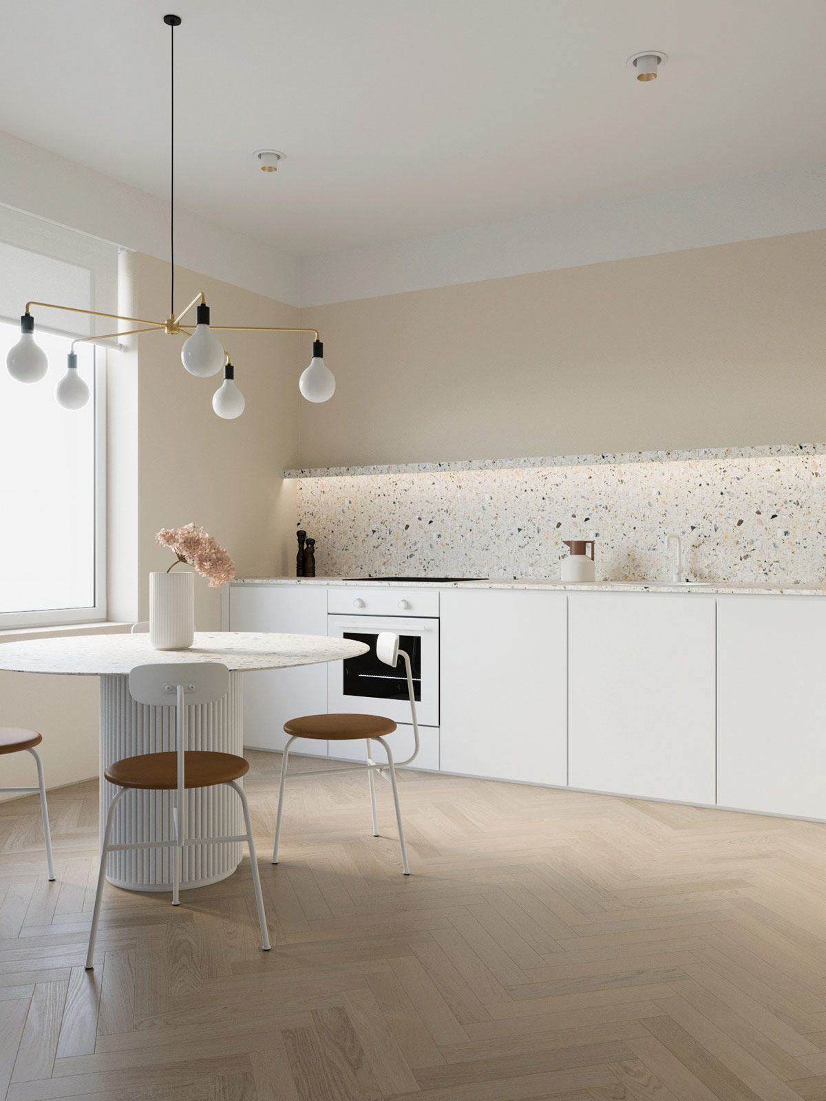 Coffee And Cream Interiors With A Swirl Of Sophisticated Style Minimalist Dining Room Interior Home Decor