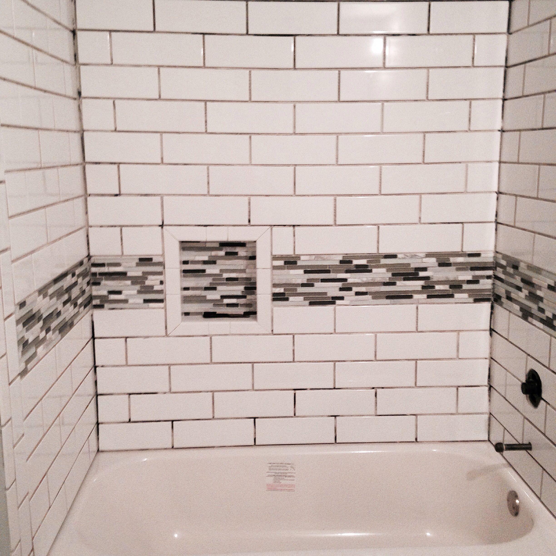 Basement Bath Subway Tile Glass Tile Soap Box Basement Progress - Bathroom remodel in a box