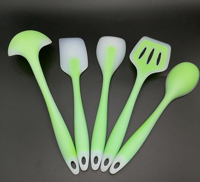 FDA approved 5pcs Non-Stick Silicone cooking tools utensils set Heat ...