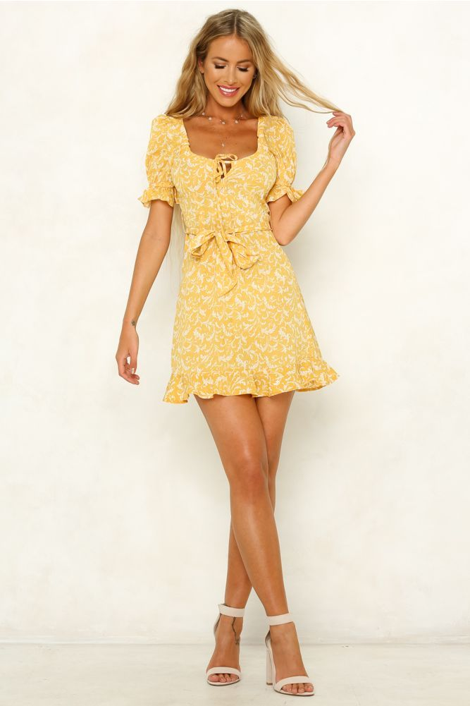 No Looking Back Dress Yellow in 2018  f844322ce