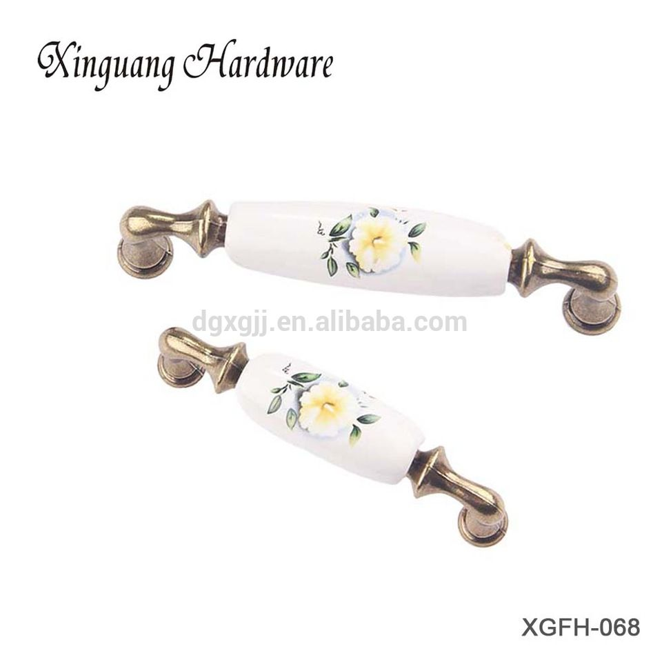 Elegant OEM Custom Rural Style Cupboard Fancy Cabinet Handles For Furniture
