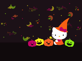 Hello kitty Halloween wallpapers | halloween kitty by night-love ...