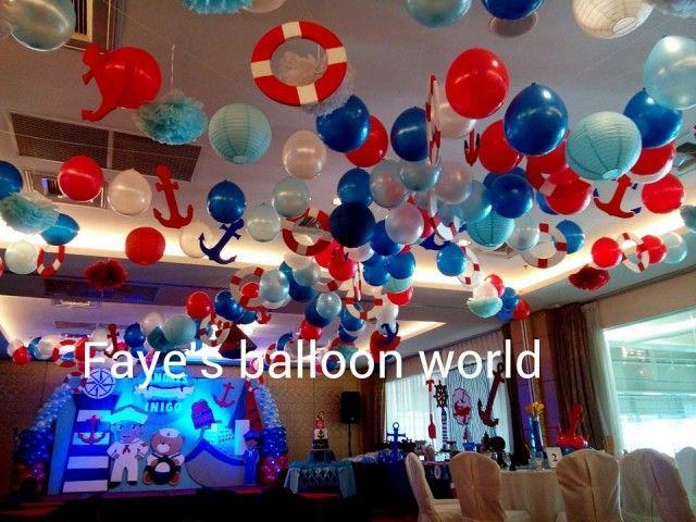 Nautical Theme Balloon Decor Styro Backdrop Balloon