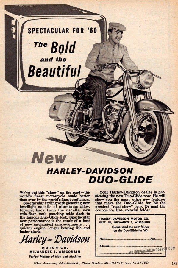 Harley Davidson Usa 1960 Harley Davidson Artwork Harley Davidson Antique Motorcycles