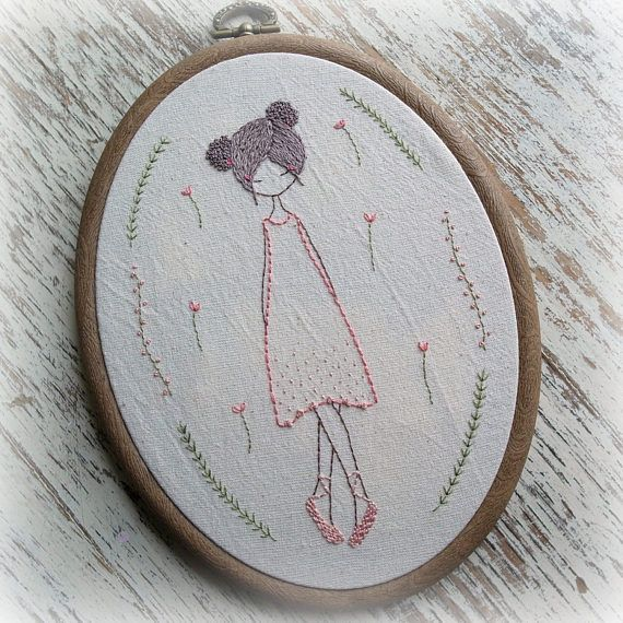 ballet dancers hand embroidery pattern pdf | bordado | Pinterest ...