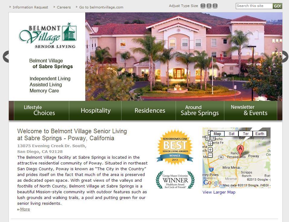 The Winner Of The Best Senior Living Awards San Diego Belmont Village Of Sabre Springs Other Award Recipients Here San Diego Living Senior Living Belmont