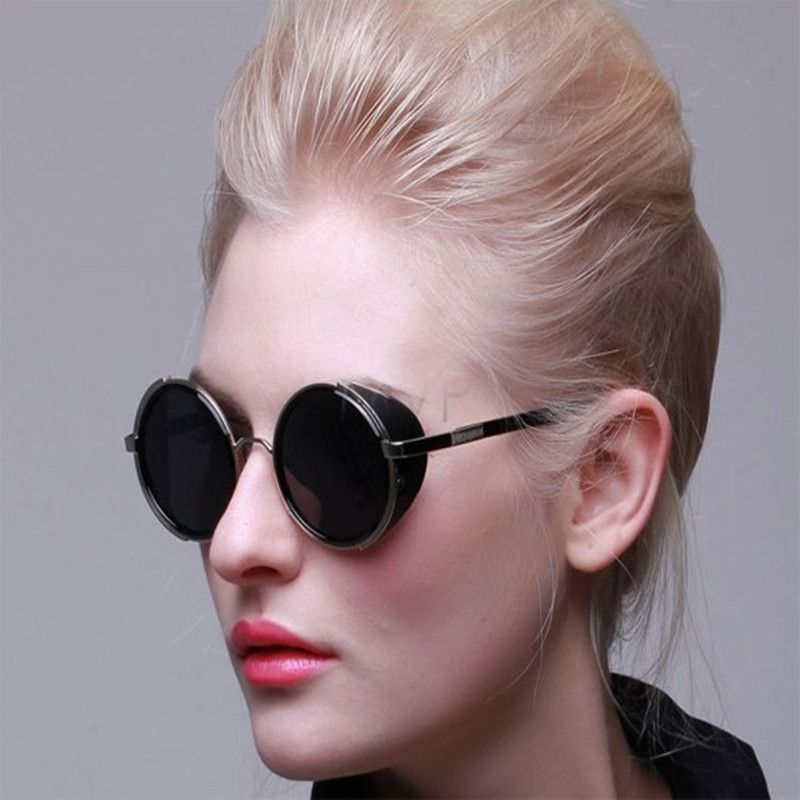 337a8df2f8 Find More Sunglasses Information about FANALA Women Sunglasses Polarized  SteamPunk Vintage Unisex Sunglasses Round Frame Restoring Mirror Men Mirror  Circle ...