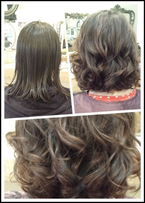 Medium Volume Digital Perm Create By Four Mirrors Hairdressing Short Permed Hair Medium Hair Styles Digital Perm