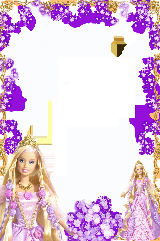 Transparentes barbie dibujos marcos de fotos pinterest - Marcos transparentes ...