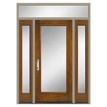 Pella Full Light Entry Door With Glass And Two Sidelights Pella
