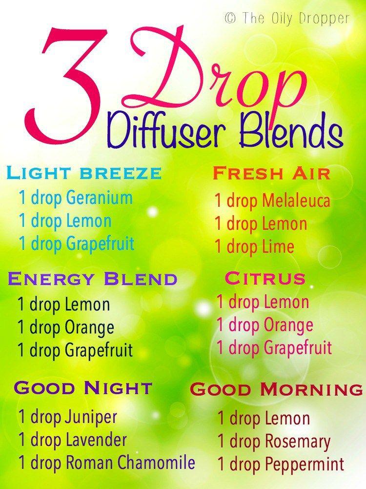 3 Drop Diffuser Blends Essential Oils Essential Oils