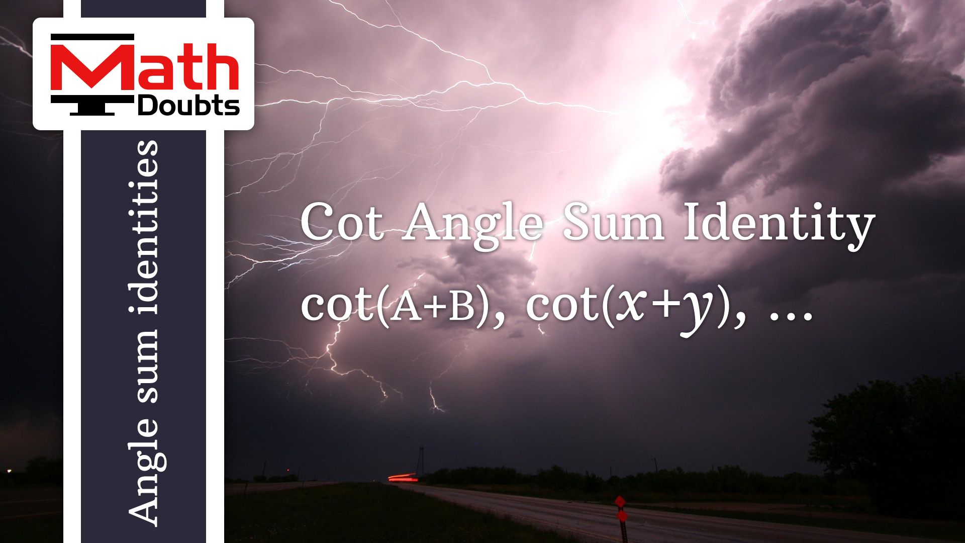 Introduction to cot of angle sum identity in trigonometry