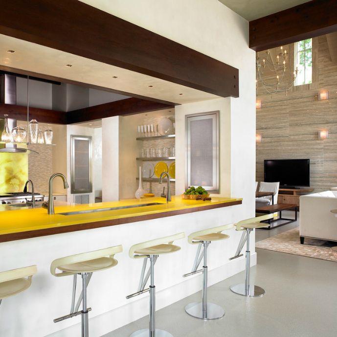soggiorno cucina con camino in travertino | kitchen | Pinterest