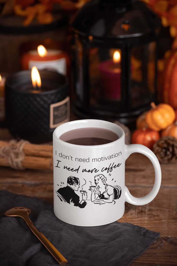 Funny Coffee And Motivation Mug (With images) Coffee humor