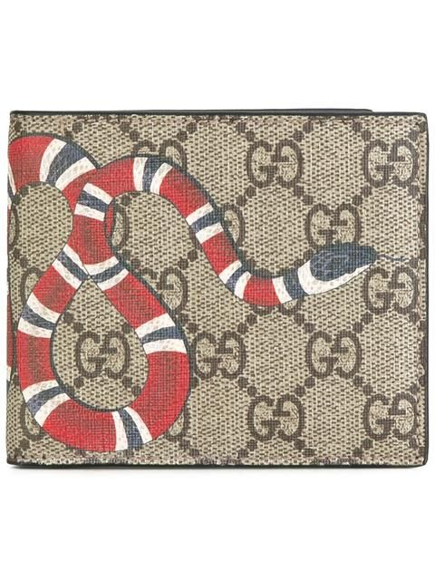 ad540a83bc6b Gucci Kingsnake Print GG Supreme Wallet in 2019 | EDC Ideas | Gucci ...