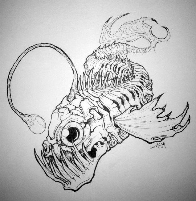 Angler Fish Tattoo Drawing