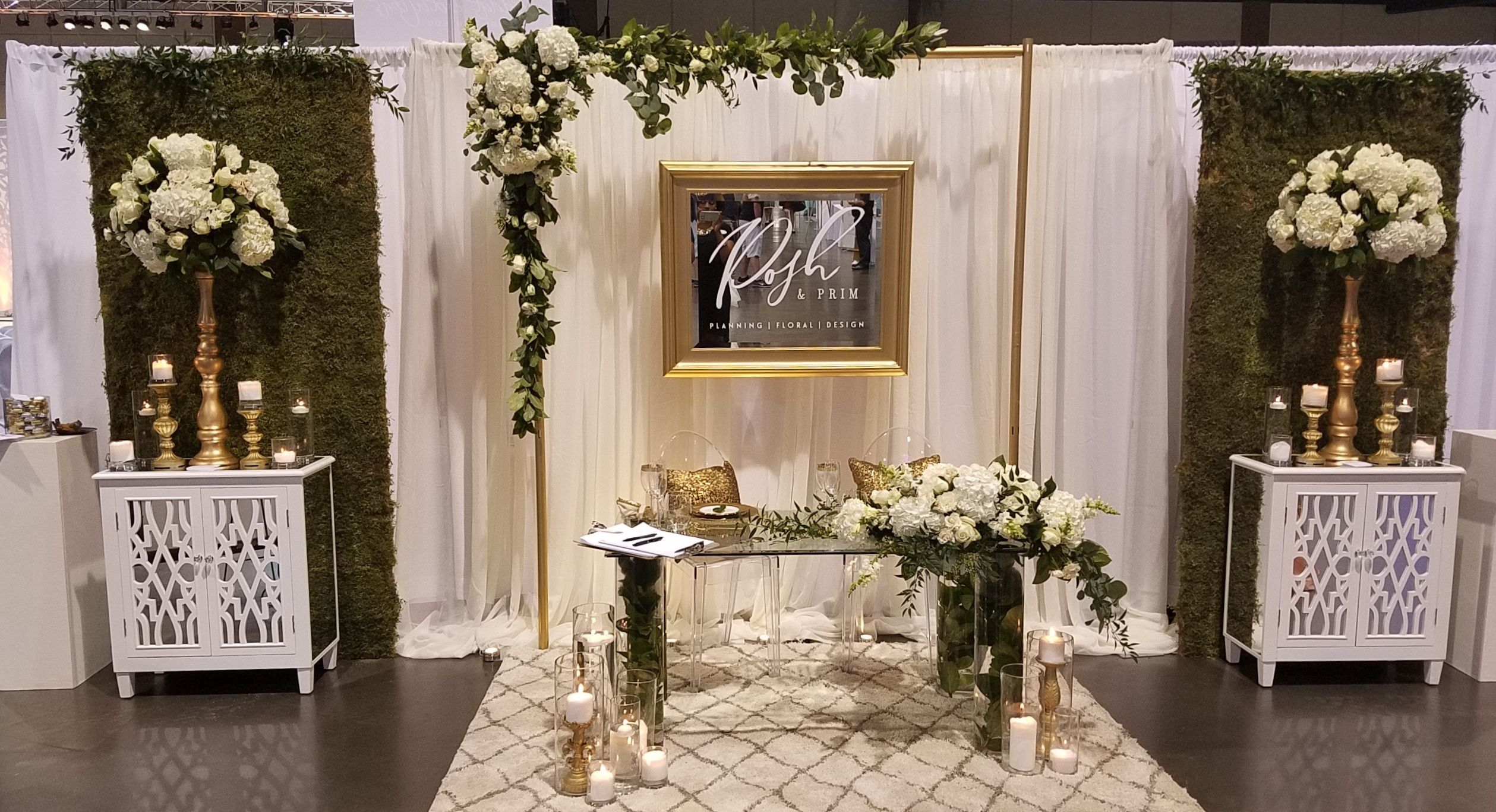 Wedding Exhibition Booth Design : Bridal show booth design october white with gold