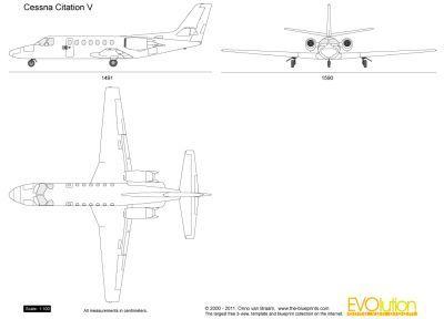 The Blueprints Com Vector Drawing Cessna Citation V Cessna Citations Blueprints
