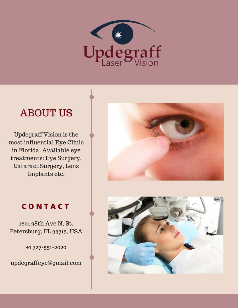 Best Lens For Cataract Surgery 2020.One Of The Top Eye Clinic In St Petersburg Fl Updegraff