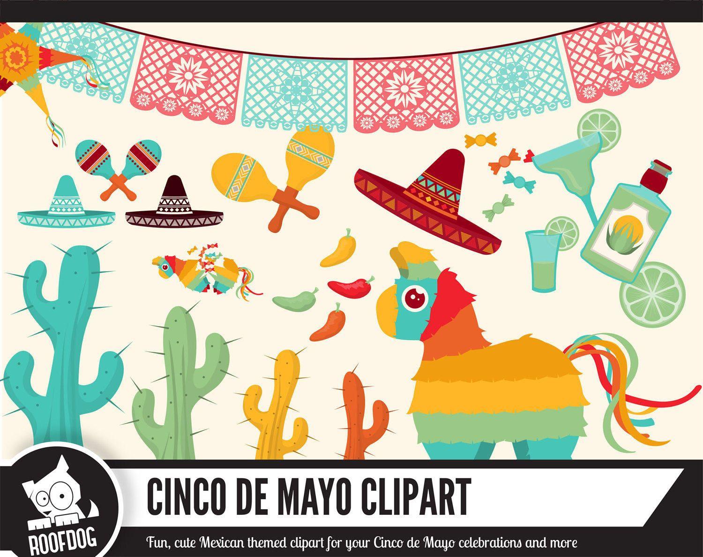 cinco de mayo clipart mexico scrapbooking taco tuesday digital pi ata clipart cactus. Black Bedroom Furniture Sets. Home Design Ideas