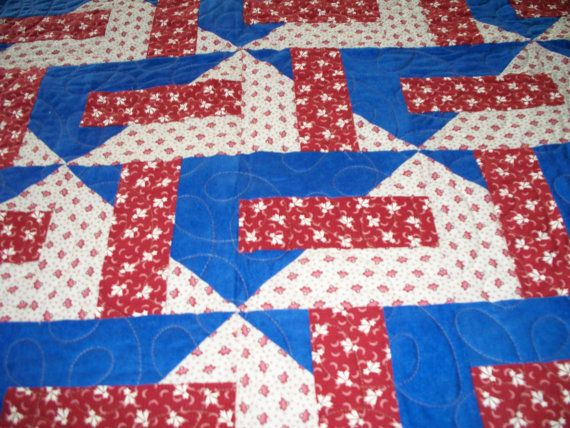 Patriotic+Quilt+by+PennyLaneCottage+on+Etsy,+$140.00