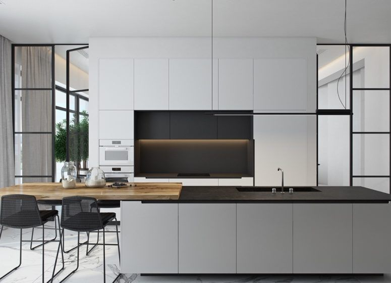Best Kitchen Black And White Kitchen Cabinets Matte Dark Grey 400 x 300