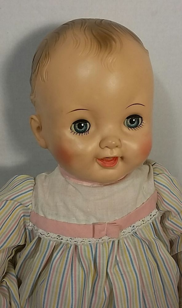 Details about Vintage 1950's Large Baby Doll Vinyl Moled ...