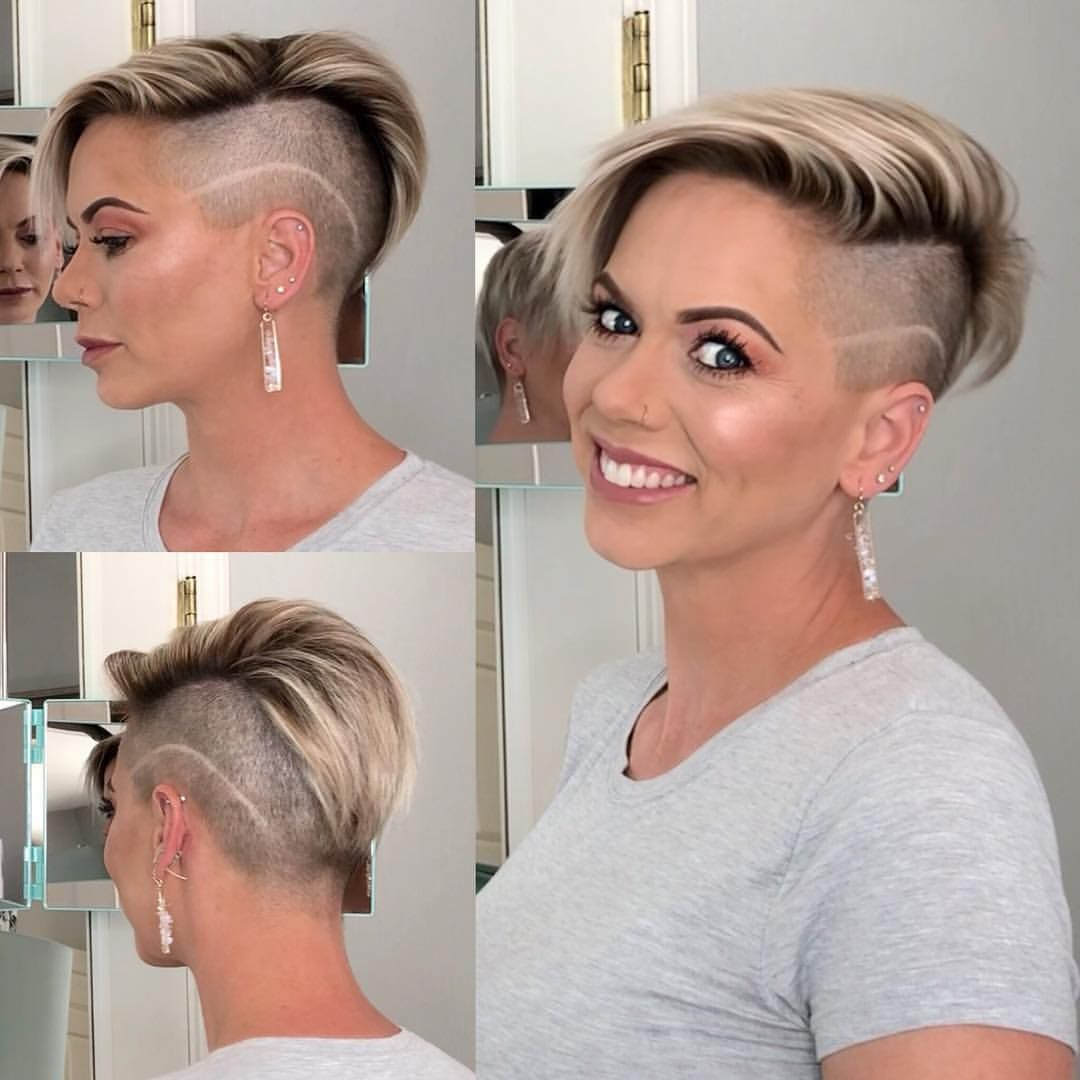 Dahling Its Danae Line Work Side Line Shaved Hair Pixie