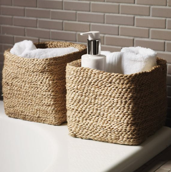Beautiful Keuco Small Jute Storage Baskets Hand Woven In Natural Fine Jute These Small Bask Bathroom Basket Storage Bathroom Baskets Rustic Bathroom Vanities