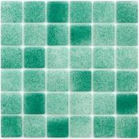 Mosaïque émaux De Verre Vert Turquoise Par Plaque De Cm - Plaque mosaique salle de bain