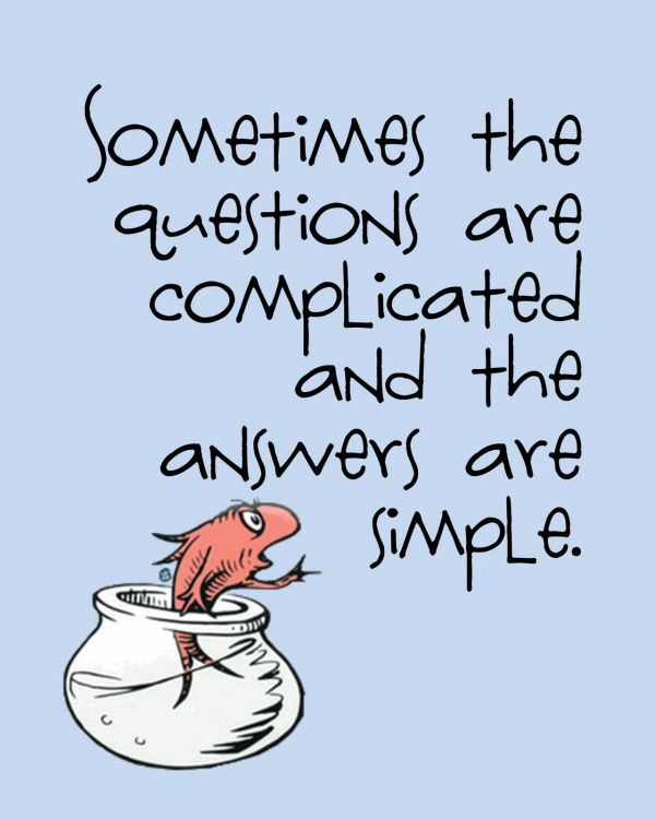 a DEEP THOUGHT from a little fish