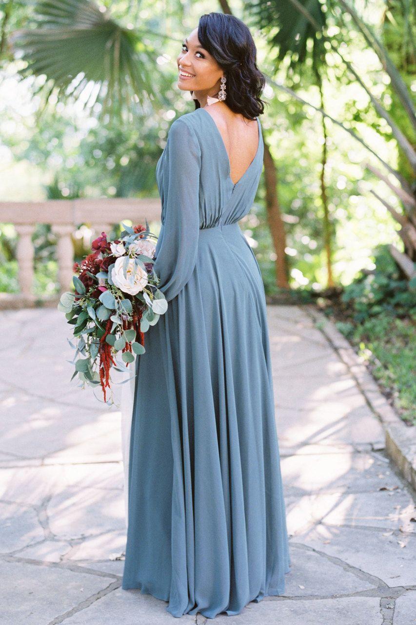 Juliet chiffon long sleeve dress my wedding pinterest