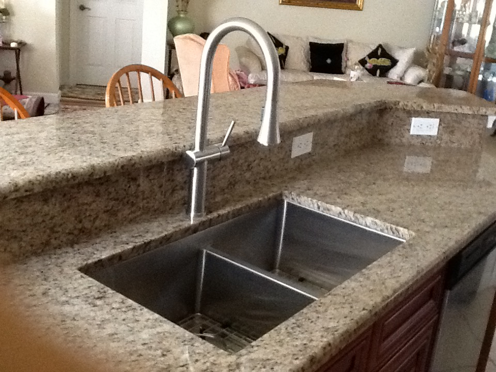 Handmade Double Bowl Undermount Kitchen Sink With Seamless Drain