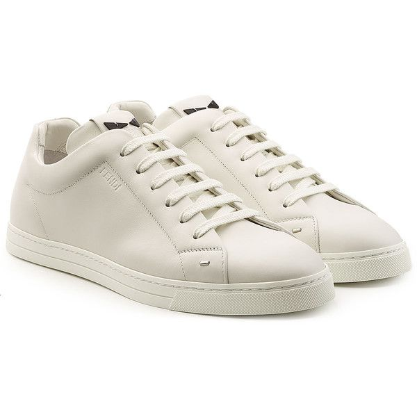Fendi Leather Sneakers ($660) ❤ liked