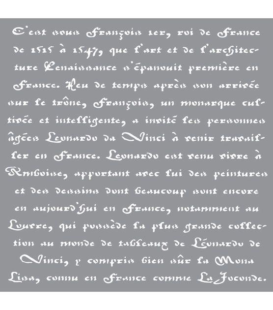 Decor Deco Art Plastic Americana Stencil 12-inch x 12-inch-old French Script