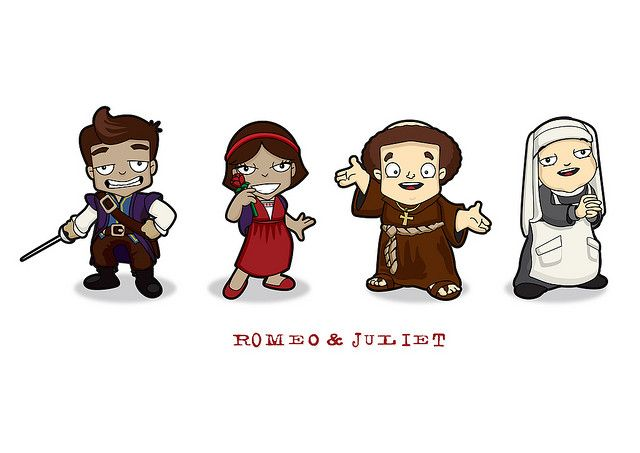 Romeo Juliet Character Set 1 Romeo And Juliet School Decal Cartoon Characters