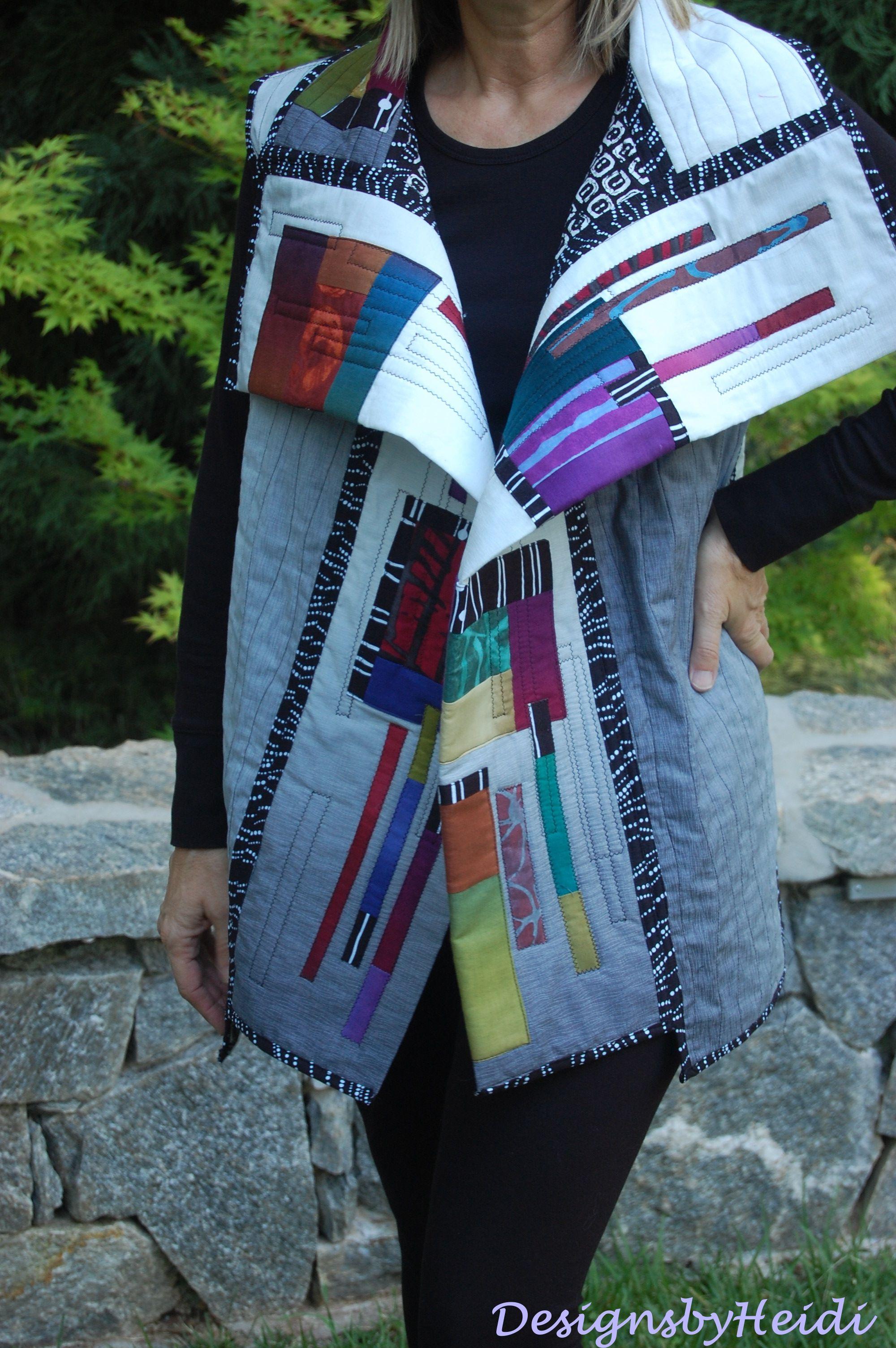 """My new vest, I call it, """"Off The Grid"""". http://designsbyheidi.wordpress.com/"""