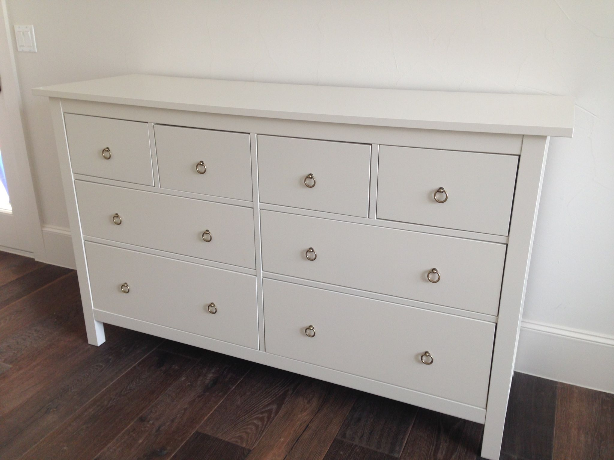 Ikea Hemnes Dresser With Gold Ring Pulls
