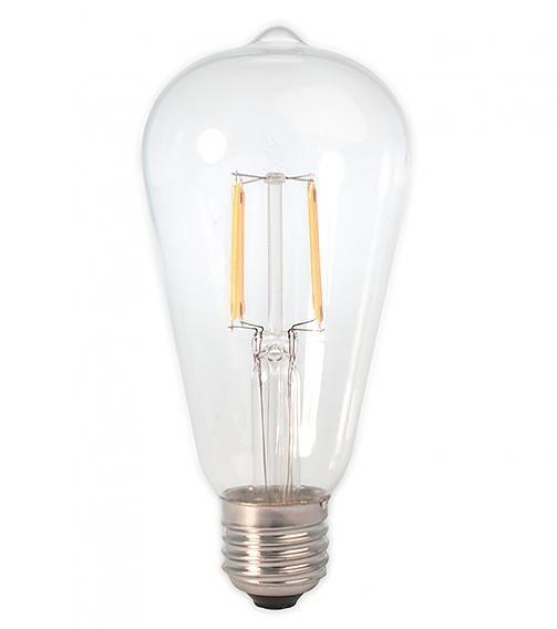 Hetlichtlab Led Filament Edison 4w Helder Lichtbronnen Peer Lampen Rustiek Wit Led