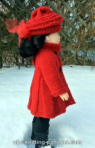 Abc Knitting Patterns Broadway Coat With Scarf Collar And Matching