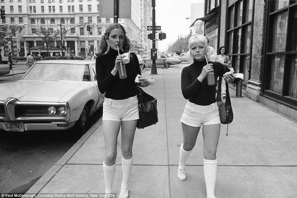 Double the fun women in white shorts 1973 new york