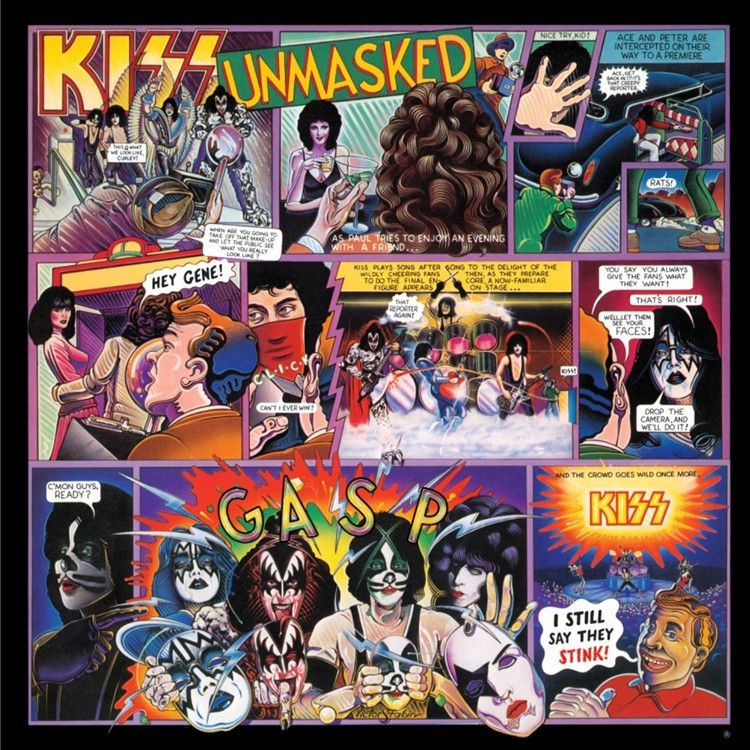 Kiss Unmasked 180g Vinyl Lp Out Of Stock Kiss Album Covers Album Cover Art Rock Album Covers
